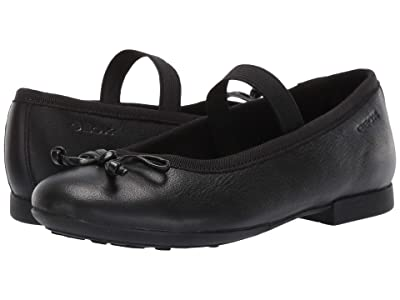 Geox Kids Jr Plie Mary Jane (Little Kid) (Black) Girl