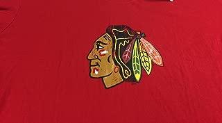 Chicago Womens 3X Plus Hockey Cotton Ladies T-Shirt Red Chief Logo