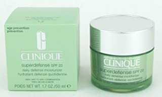 Clinique Superdefense Daily Defense Moisturizer Broad Spectrum SPF 20 1.7 Oz/ 50 Ml (1,2 Very Dry to Dry Combination) by Clinique [Beauty]