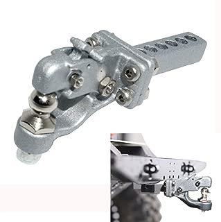ShareGoo Metal Hitch Trailer Hook Simulation Climbing Tow Shackles for Traxxas TRX4 90046 90047 SCX10 1:10 RC Crawler Car,Sliver