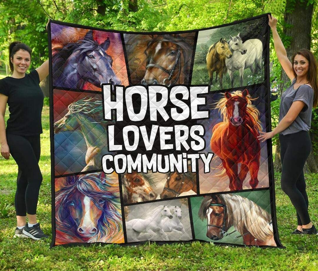Personalized Horse Max 47% OFF Lovers Community Quilt - My to Mo Popular overseas