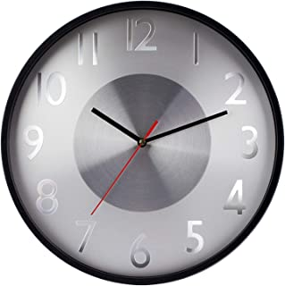 """Decorative Wall Clock,12"""" Modern Silent & Non-Ticking Battery Operated Clock for Living Room Home Office School,Gray"""