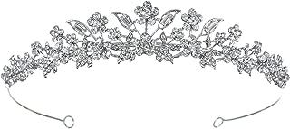 Bridal Floral Rhinestone Crystal Prom Wedding Tiara Crown T975