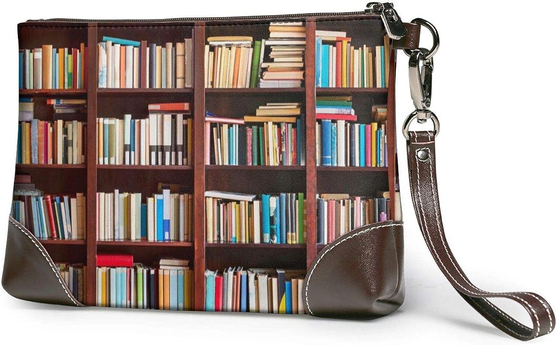 Books Clutch Purses Financial sales sale Leather Handba Wristlet Award-winning store Wallet