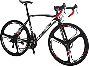 Eurobike Bikes EURXC550 21 Speed Road Bike 700C Wheels Road Bicycle Dual Disc Brake Bicycles