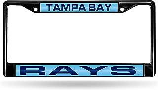 Rico Industries Tampa Bay Rays Black Laser Chrome Frame