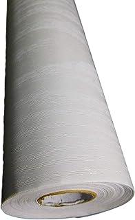 【丸喜明商店】壁紙 シール 剥がせる 賃貸 DIY ウォール ステッカー 模様替 (白木目, 45cm×10m)
