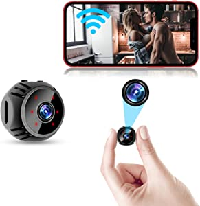 TAVCIO Mini Spy Camera WiFi Wireless Hidden Nanny Cam 1080P Home Security Baby Monitor Indoor Video Recorder with Live Feed Phone APP Remote Viewing Motion Detection Night Vision