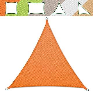 casa pura Sonnensegel wasserabweisend imprägniert | Testnote 1.4 | Dreieck gleichseitig | UV Schutz Größen orange, 3x3x3m