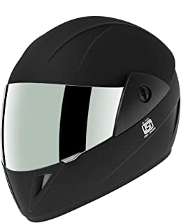Gliders. Jazz DX Full Face Helmet (Matte Black, Clear Visor, 580 mm)