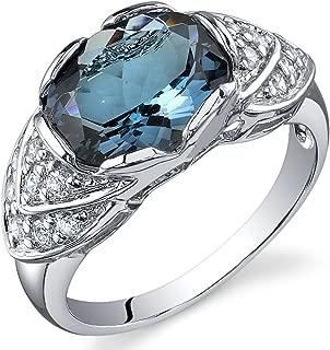 3 carat blue topaz ring