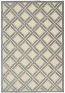 Nourison Graphic Illusions Ivory Rectangle Area Rug, 5-Feet 3-Inches by 7-Feet 5-Inches (5'3