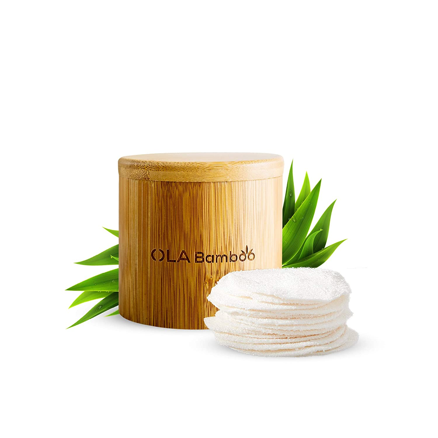 OLA Dealing full price reduction High quality new Bamboo - Makeup Remover Pads of Pack Reusable 16 Fa