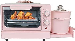 4 en 1 Machine de petit-déjeuner électrique à grille-pain Mini four à bifteck omelette pure pain PAIN Pizza Griller Steame...