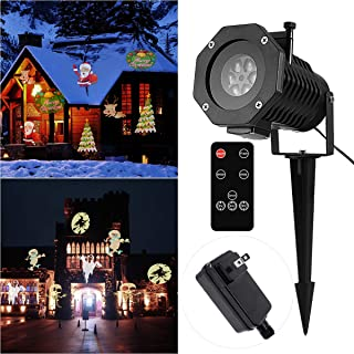 YUNLIGHTS Projector Christmas Lights Outdoor 15 Pattern LED Halloween Projector Lights Decorations with Wireless Remote, Timer, Waterproof Holiday Projector for Outdoor Garden Decoration