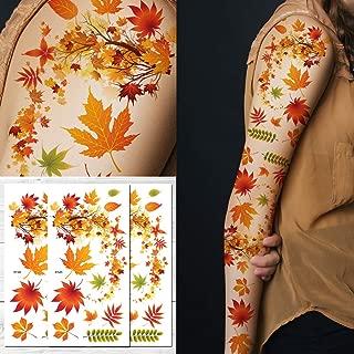 Supperb Temporary Tattoos - Autumn Leaves maple leaves leaf Tattoo Tattoo Sleeve Large Tattoo Arm Tattoos