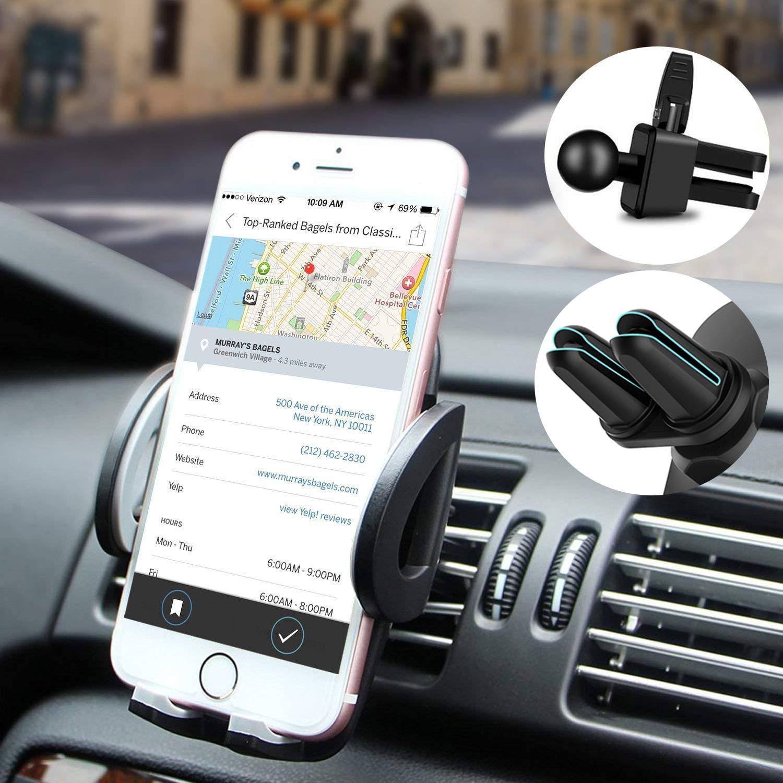 Soporte Móvil Coche Ventilación y Soporte Móvil Coche Magnético Universal Soporte de Smartphone para Rejillas del