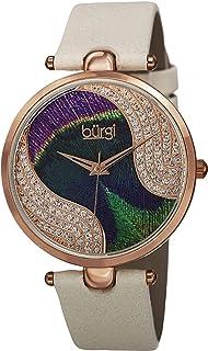 Burgi WoMen's Quartz Watch, Analog Display And Leather Strap Bur131Wtr