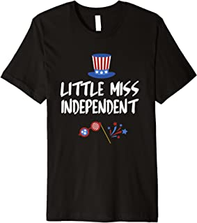 Little Miss Independent Shirt, 4th of July Shirts for Girls