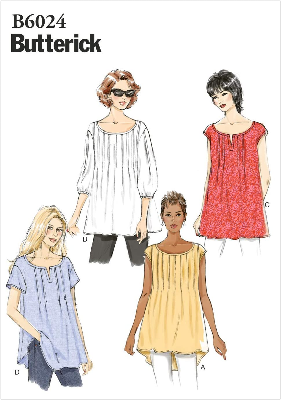 BUTTERICK PATTERNS B6024ZZ0 Misses' Top Max 89% OFF Over item handling Template Sewing Size ZZ