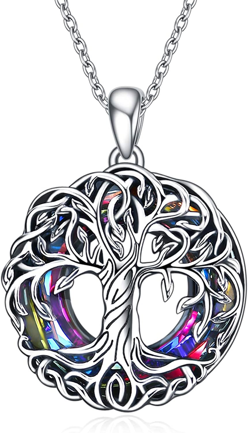TOUPOP Tree of Life Necklaces Silver Celtic Family Popular shop is the lowest Washington Mall price challenge Sterling