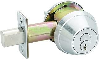 Schlage B660BD 626 (SFIC) B600 Series B600 Grade 1 Deadbolt Lock, Single Cylinder Function, Small Format Interchangeable Core, Satin Chrome Finish