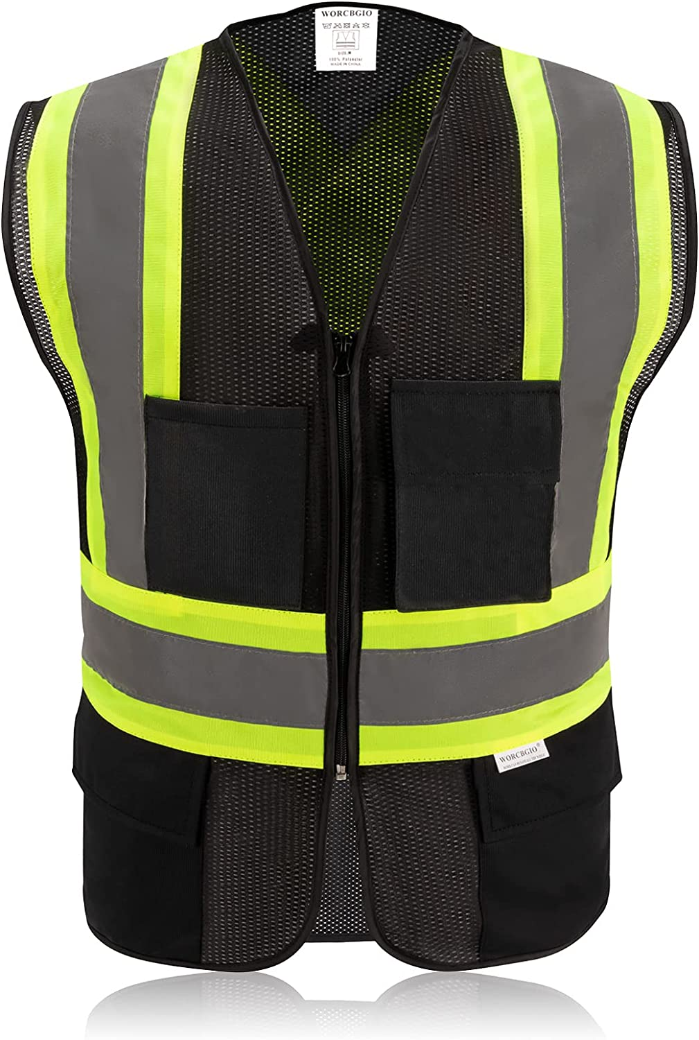WORCBGIO Safety Vest with X-Shaped Reflective Animer and price revision High St Max 60% OFF Visibility