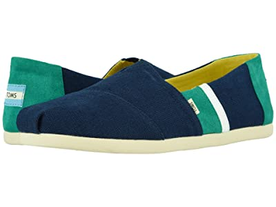TOMS Alpargata 3.0 (Navy/Green Canvas Color Block) Men