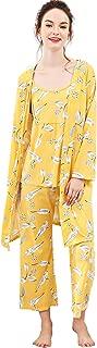 Women's Cami & Pants Pajamas Set with Robe Sleepwear