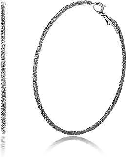 Steve Madden 60mm Textured Hoop Earrings For Women (Various Styles)