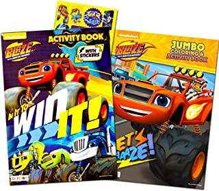 Blaze and the Monster Machines Coloring Book Super Set -- 2 Books and Over 60 Blaze Stickers