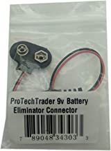 9v Battery Eliminator (9v Battery Eliminator Connector) - Convert 9-Volt Battery Powered Electronic Devices to Connect to a Wall Power Adapter