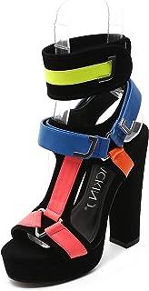MACKIN J 581-1 Women's Chunky Platform Heels Open Toe Strappy Buckle Heel Sandals