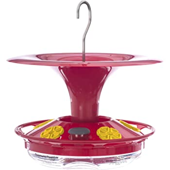 Roamwild Hanging Hummingbird Feeder for Outdoors with Double Moat Guard Technology | 5 Feeding Stations with Quick Easy Filling Port | 12 fl oz Nectar Large Capacity