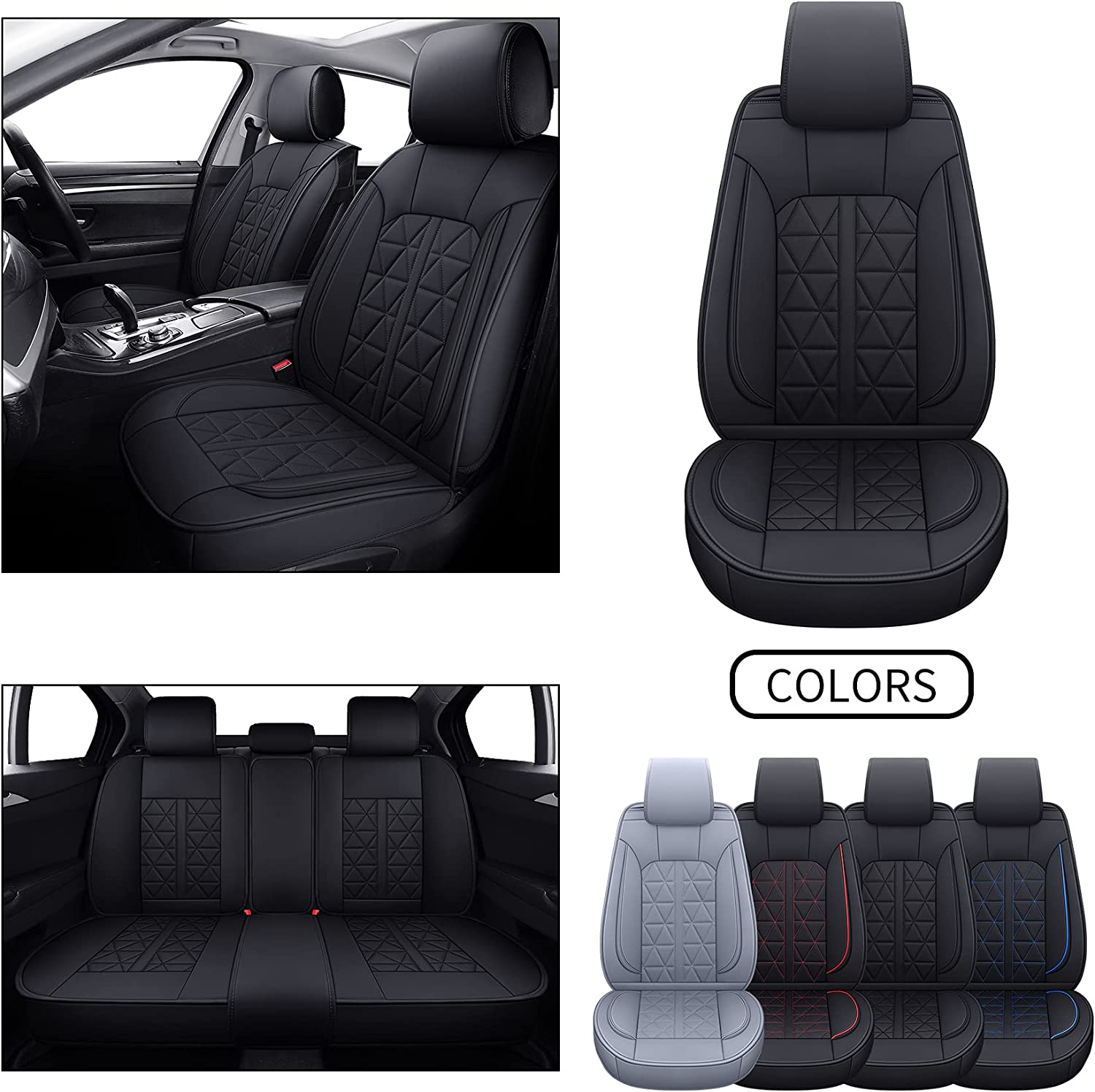 Oakland Mall INCH OFFicial EMPIRE Seat Cover 5 Seats Full Fit Most Universal for S Set