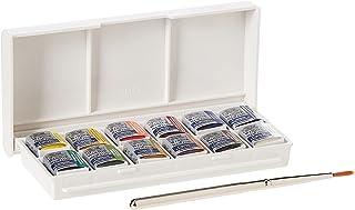 Winsor & Newton Cotman جعبه جیبی Paint Sketchers نقاشی رنگ آبی، پانل نیم، 14 قطعه