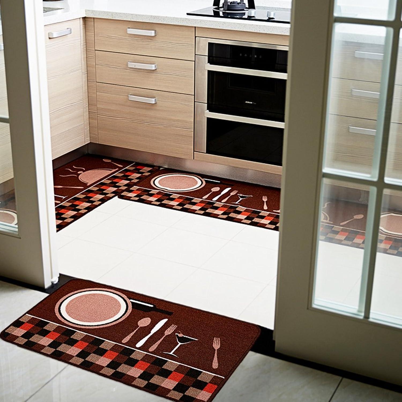 Kitchen long mat Kitchen floor mats Bathroom non-slip mats Bar [absorbent] Oil-proof Household use [bathroom] Bedroom bedside mat-A 50x180cm(20x71inch)