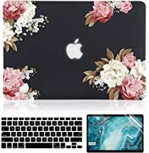 iDonzon Case for MacBook Air 13 inch A1466 A1369 2010-2017 Release, Matte Black Hard Cover & Black Keyboard Cover & Screen...
