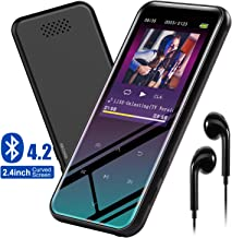 """$29 » MP3 Player with Bluetooth 4.2 Speaker Earphone Portable Music Player for Kids 8GB with FM Radio Voice Recorder E-Book Picture Video Player 2.4"""" HD LCD Screen Support up to 128GB"""
