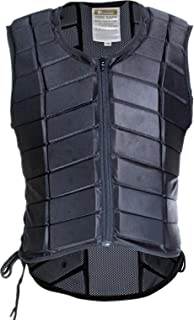 UNISTRENGH Equestrian Vest Professional Safety EVA Padded Horse Riding Vest Body Protector Gear Waistcoat Unisex Black Zipper Waistcoat for Adult Men Women Kids Children
