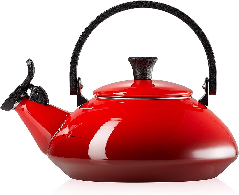 Le Cheap mail order New life specialty store Creuset Enamel On Steel Zen Tea Cerise qt. Kettle 1.6