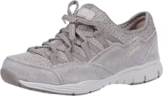 Skechers Women's Seager-Zip Line-Fixed Bow Quarter Fit Slip-on Sneaker