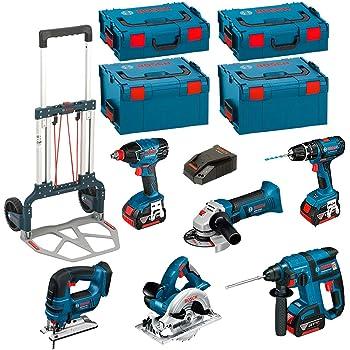 Bosch Kit psl3m3Professional (GBH 18V-EC + GSB 18-2-LI + GWS 18V-LI + 2x 4,0Ah + L-Boxx 238+ 136): Amazon.es: Bricolaje y herramientas