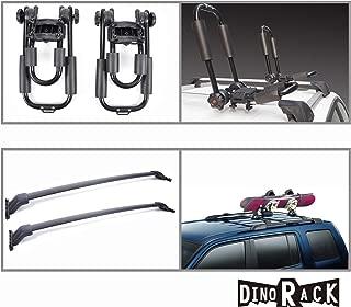 VioletLisa New Blk Aluminum Roof Rack Cross Bars+J-Bar Kayak Carriers For 2009-2015 Honda Pilot