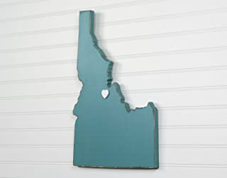 Idaho State Shape Wood Cutout Sign Wall Art. 18