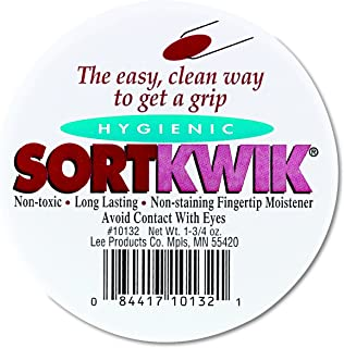 LEE 10132 Sortkwik Fingertip Moisteners, 1 3/4 oz, Pink (Pack of 2), Package may vary
