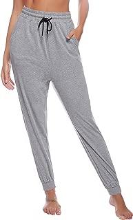 Aibrou Womens Cotton Pajama Pants Soft Sleep Pants for Lounge Pants Bottoms Pajama Pants for Womens