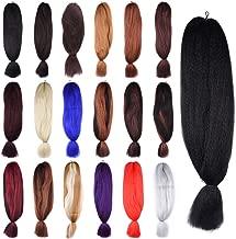 Aigemei Jumbo Braiding Hair African Collection Braids Crochet Bulk Braiding Hair Jumbo Braids Crochet Hair Extension(4#,48inch ,57g)