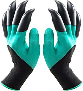 Ezonedeal Garden Gloves with Claws, Waterproof and Breathable Garden Gloves for Digging Planting, Best Gardening Gifts for...