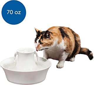 PetSafe Drinkwell Avalon Pet Water Fountain, Ceramic Drinking Fountain for Cats and Dogs, 70 oz. Water Capacity, White